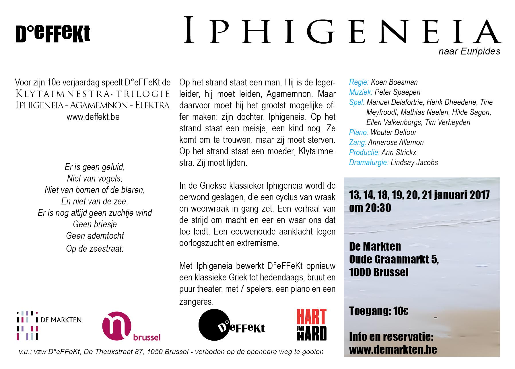 flyer Iphigeneia achterkant